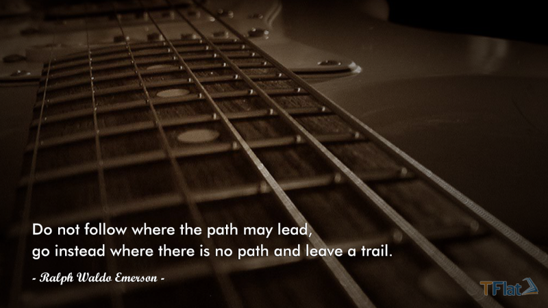 Do not follow where the path may lead, go instead where there is no path and leave a trail.
