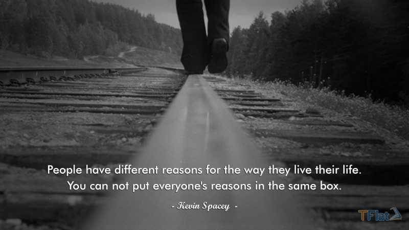 People have different reasons for the way they live their life. You can not put everyone's reasons in the same box.